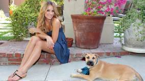 Lauren Conrad Smiling Sexy Sitting Pose With Dog